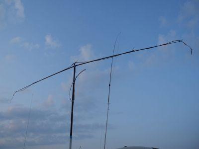horizontal Schnorchel eingefahren / nur vertikal Betrieb am Abend mit HyZooka EFHWB