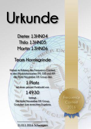 HNDX Urkunde Contest 2016 Platz01