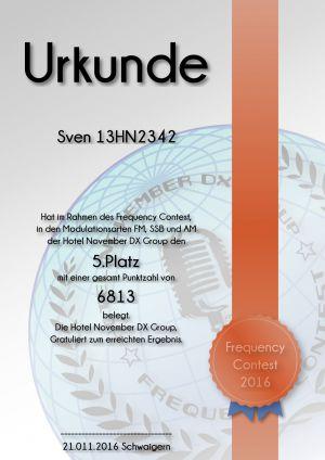 HNDX Urkunde Contest 2016 Platz05